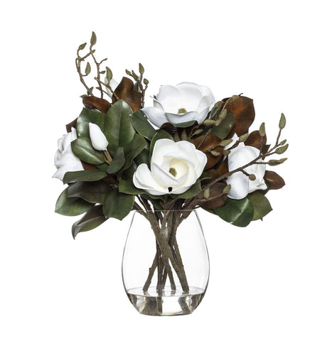 Grand Magnolia Mix in Claire Vase White