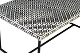 Aditi Geo Bone Inlay Coffee Table Black