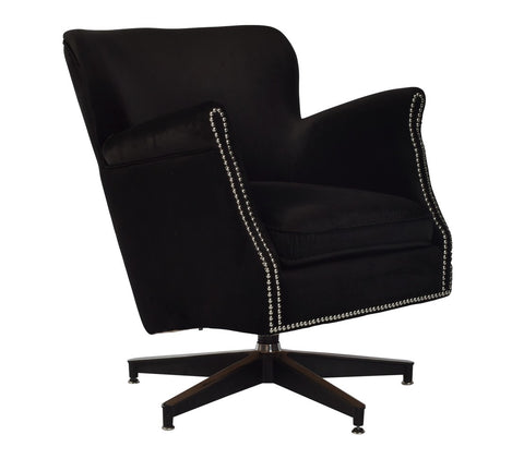 Revolver Swivel Armchair Emerald