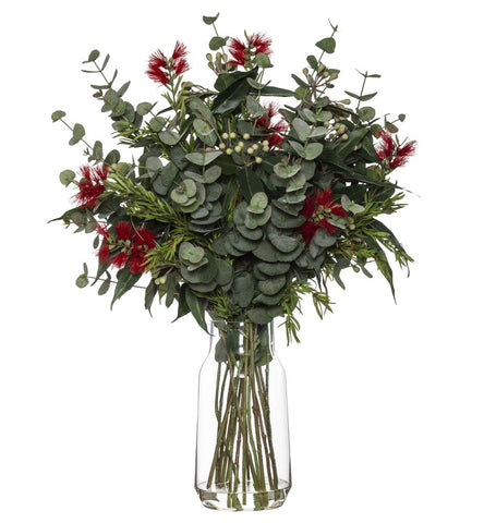 Australiana Mix in Audrey Vase Red