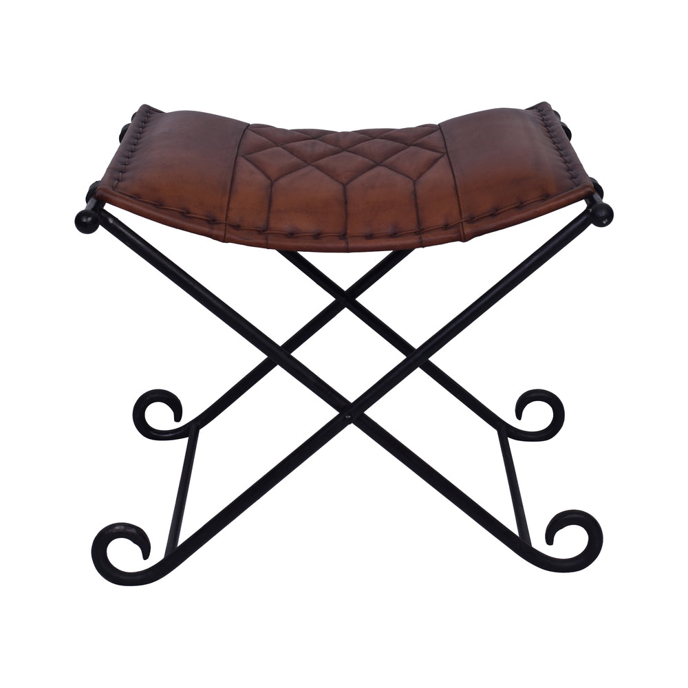 Camelot Leather Seat with Metal Base