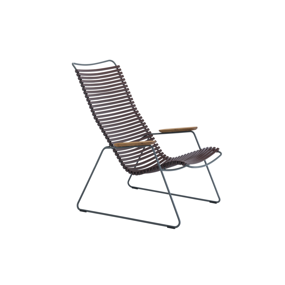Click Outdoor Lounge Chair Plum