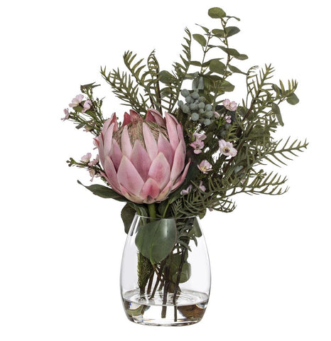 King Protea Wax Flower Mix Pink 44cmH
