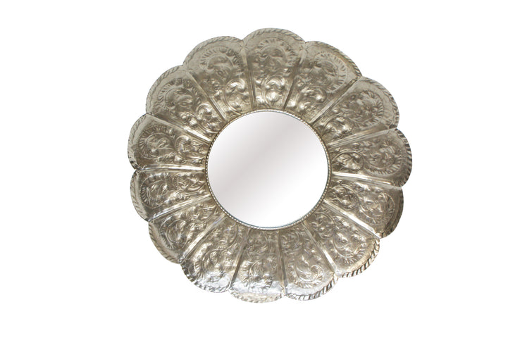 Petal Pressed Metal Mirror