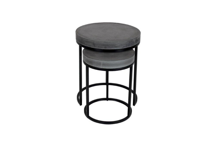 Peninsula Nest Tables Grey Round