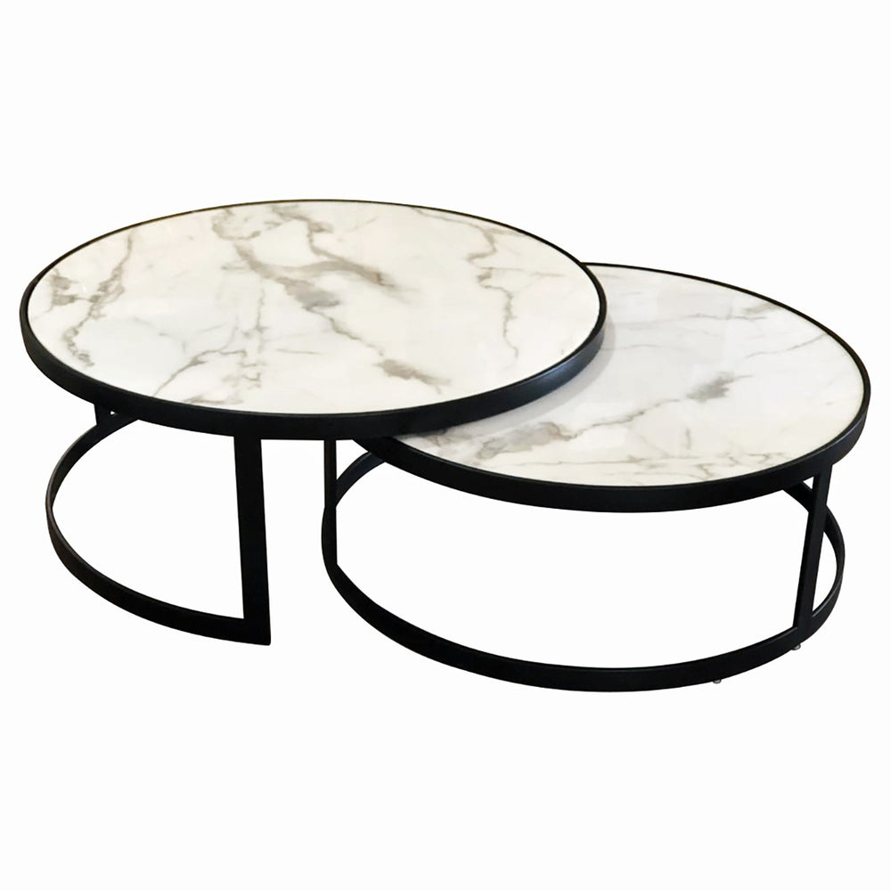 Galway Coffee Table Set/2 White