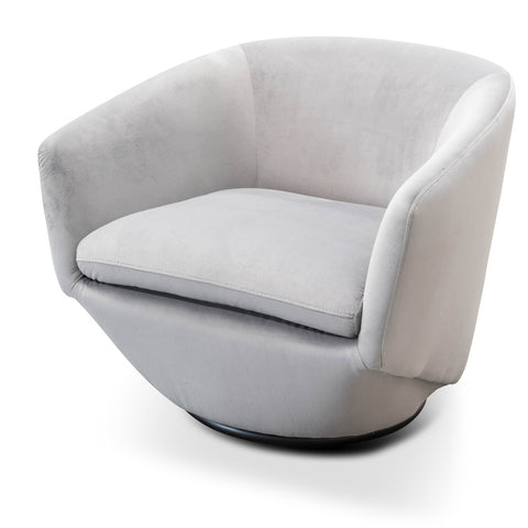 Jonas Swivel Chair Grey Velvet