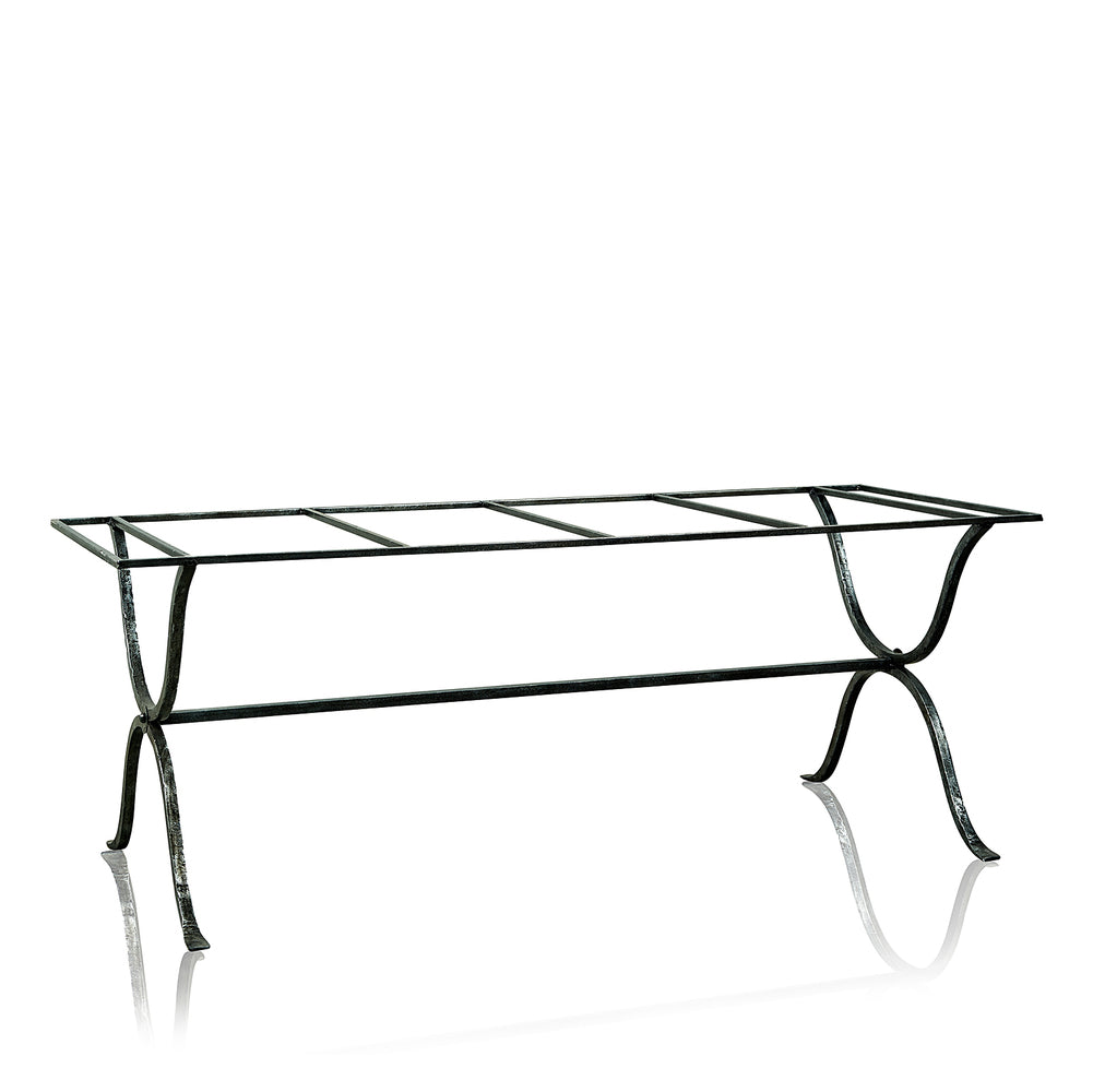 Arles Wrought Iron Outdoor Dining Table with GRC Top