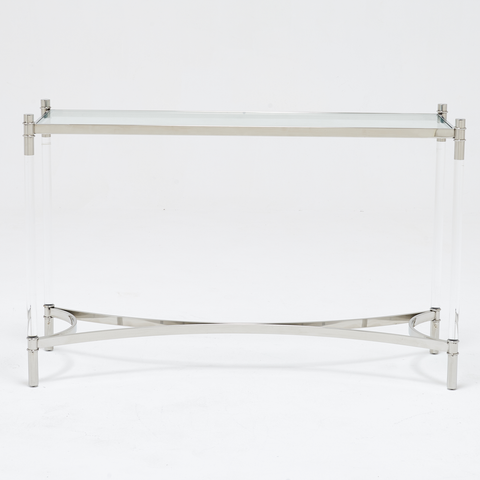 Devin Side Table Silver