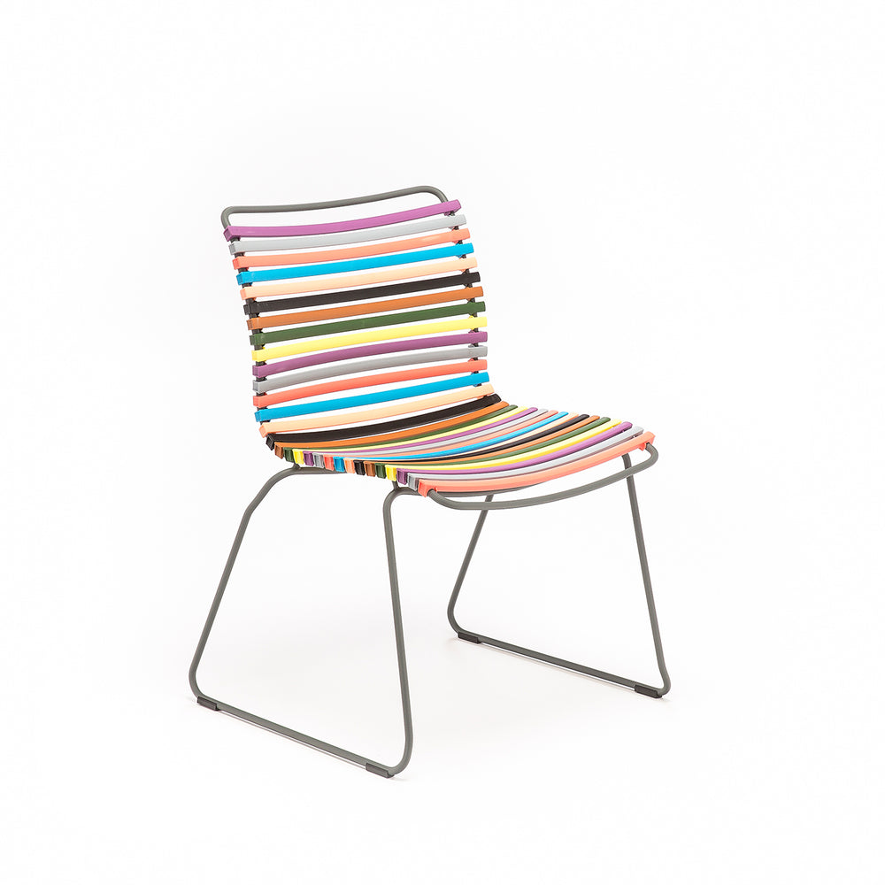 Click Outdoor Dining Chair Multi Red & Yellow Palette