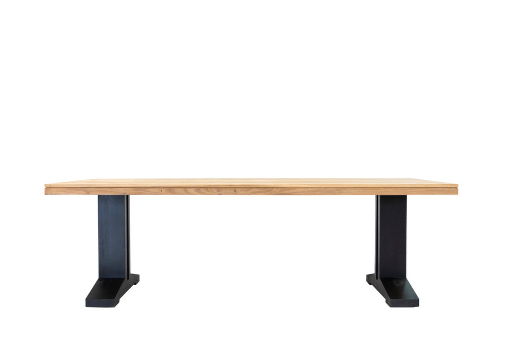 Camilo Indoor/Outdoor Teak Table Black Leg 280cm