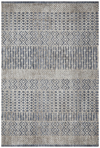 Harstad Rug Navy Grey