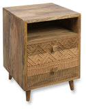 Ashanti Two Drawer Bedside