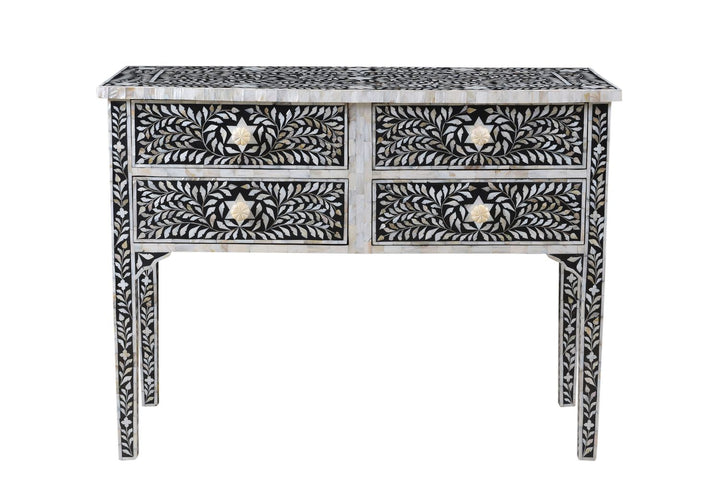 Janiki Mother of Pearl Inlay 4 Drawer Console