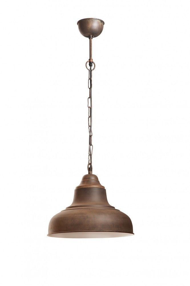 Brasserie Small Overhead Lamp Rust
