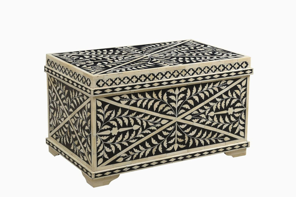 Kanpur Bone Inlay Storage Chest/Coffee Table Small