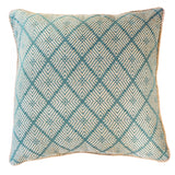 Phulkari Weave Celladon Lounge Cushion