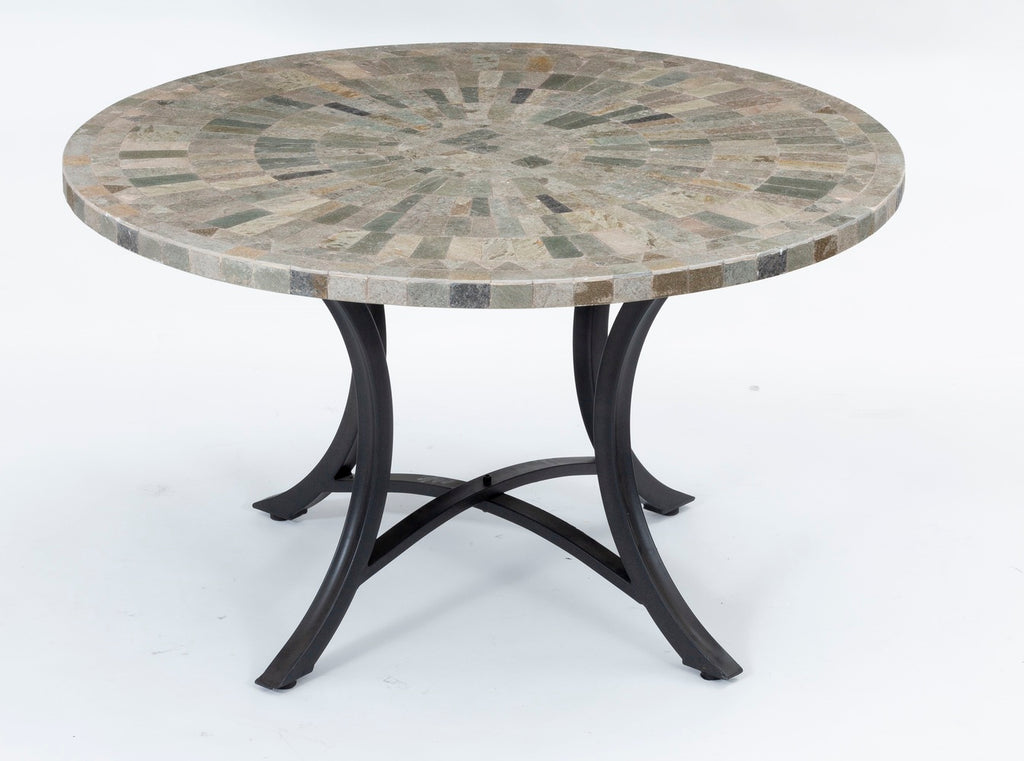 Oyster Round Outdoor Slate Dining Table