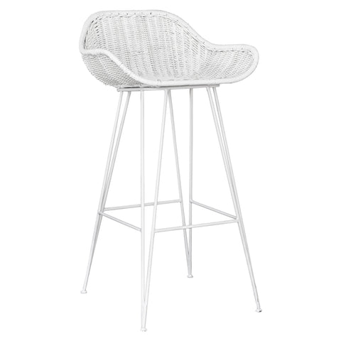 Angola Bar Chair White