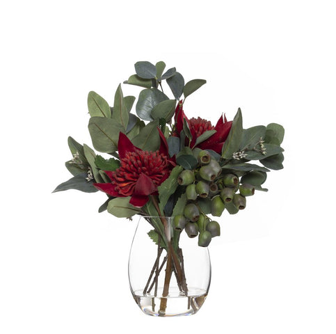 Waratah Mix in Claire Vase Red