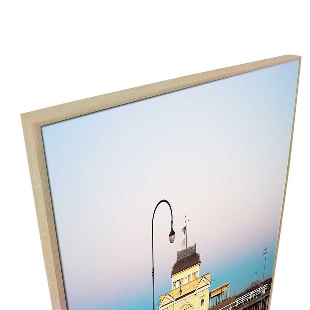 St Kilda Pier Canvas Print with Floating Frame