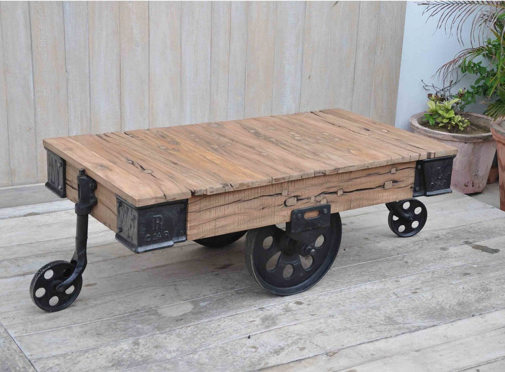 ... Industrial Cart Coffee Table ...