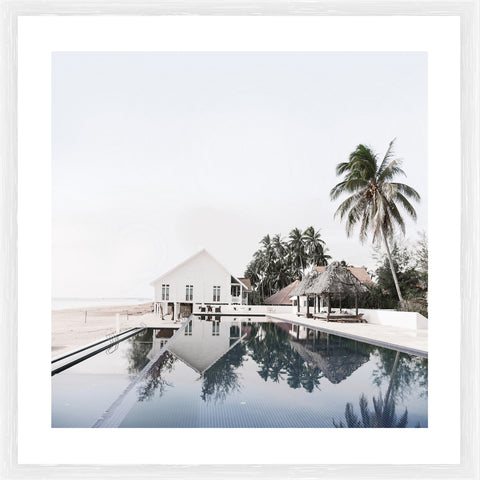 Beach House Photographic Framed Print