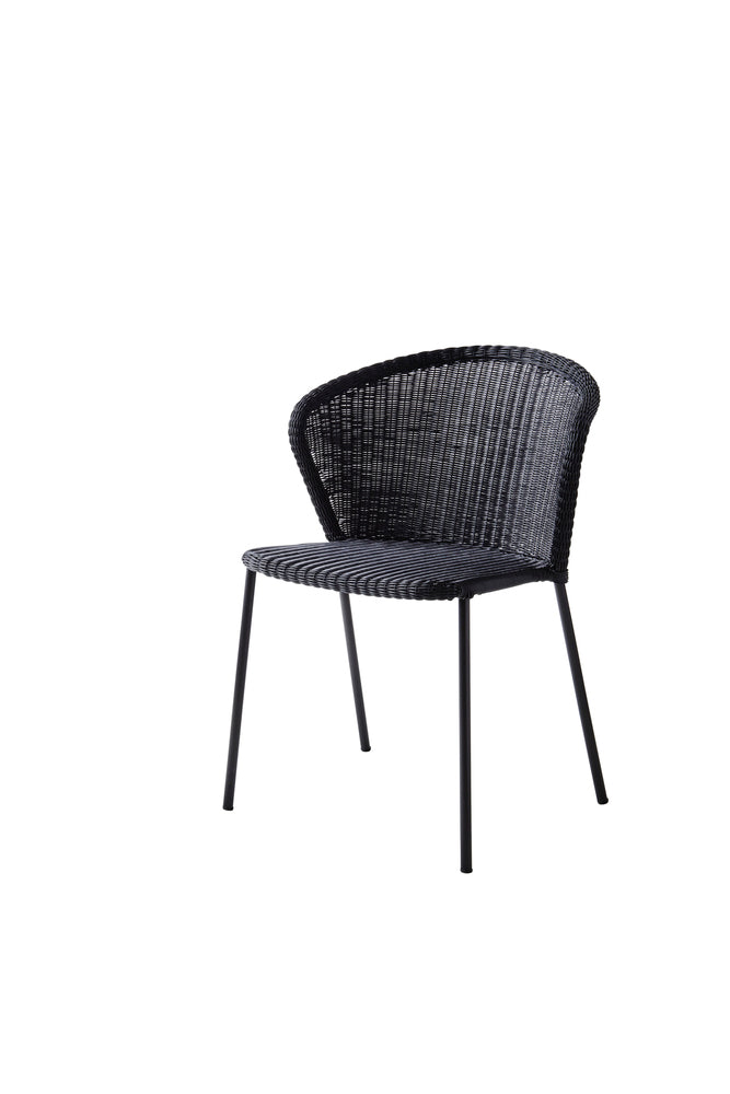 Lean Stackable Dining Chair Black