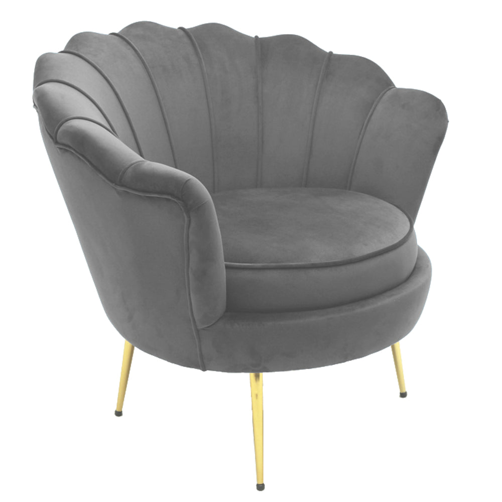Mornington Chair Grey Velvet