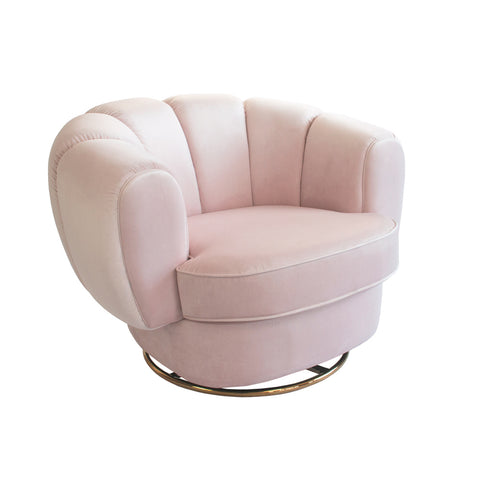 Kinsley Swivel Chair Rose Water