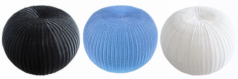 Indoor/Outdoor Gumball Woven Stool