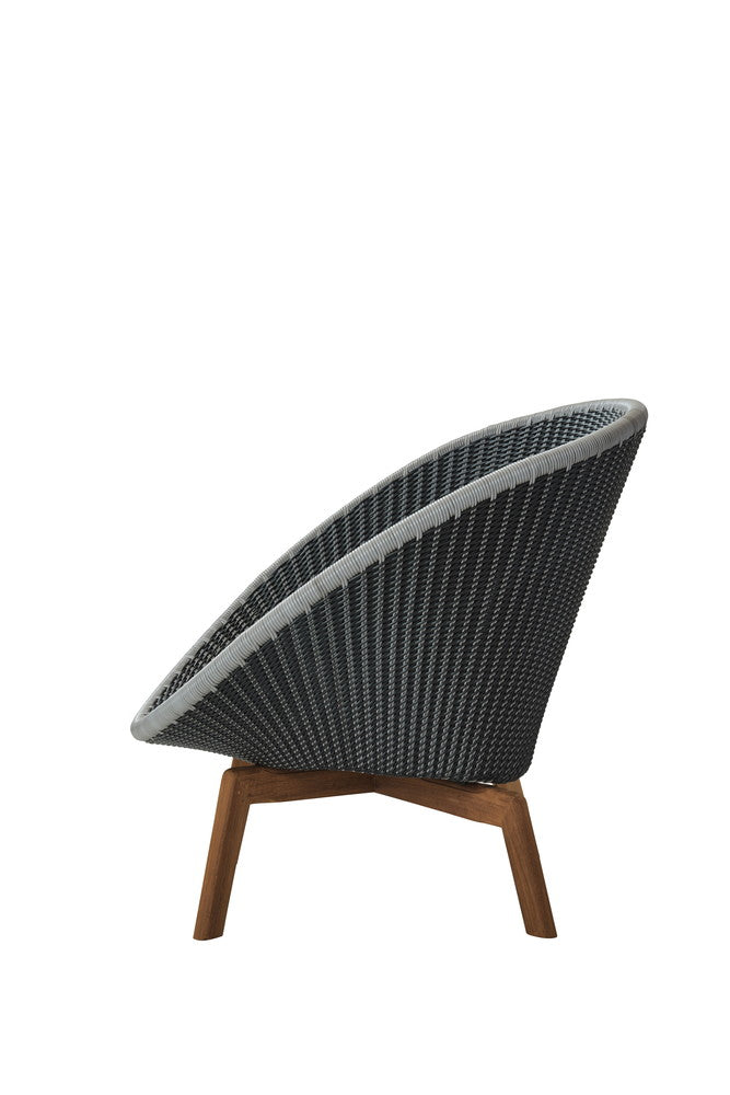 Peacock Lounge Chair Grey With Cushion Options