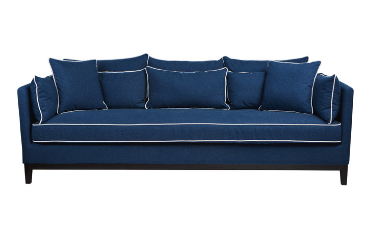 Valerie 3 Seat Sofa Navy and White
