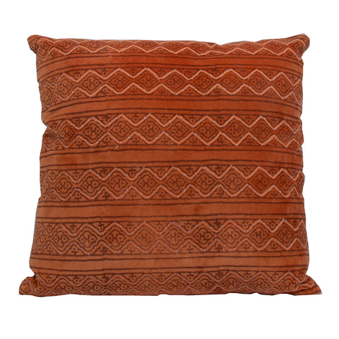 Salma Velvet Cushion Burnt Orange