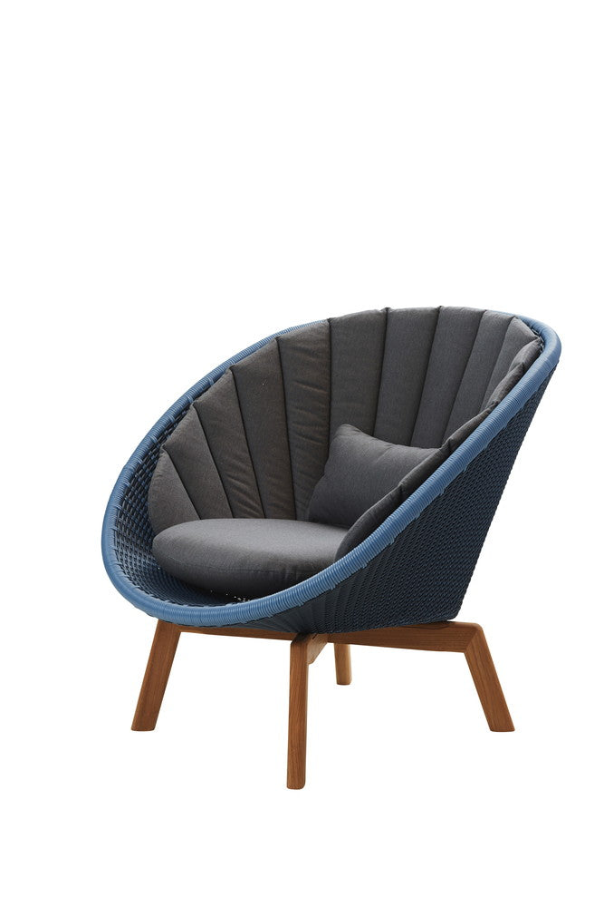 Peacock Lounge Chair Midnight with Cushion Options