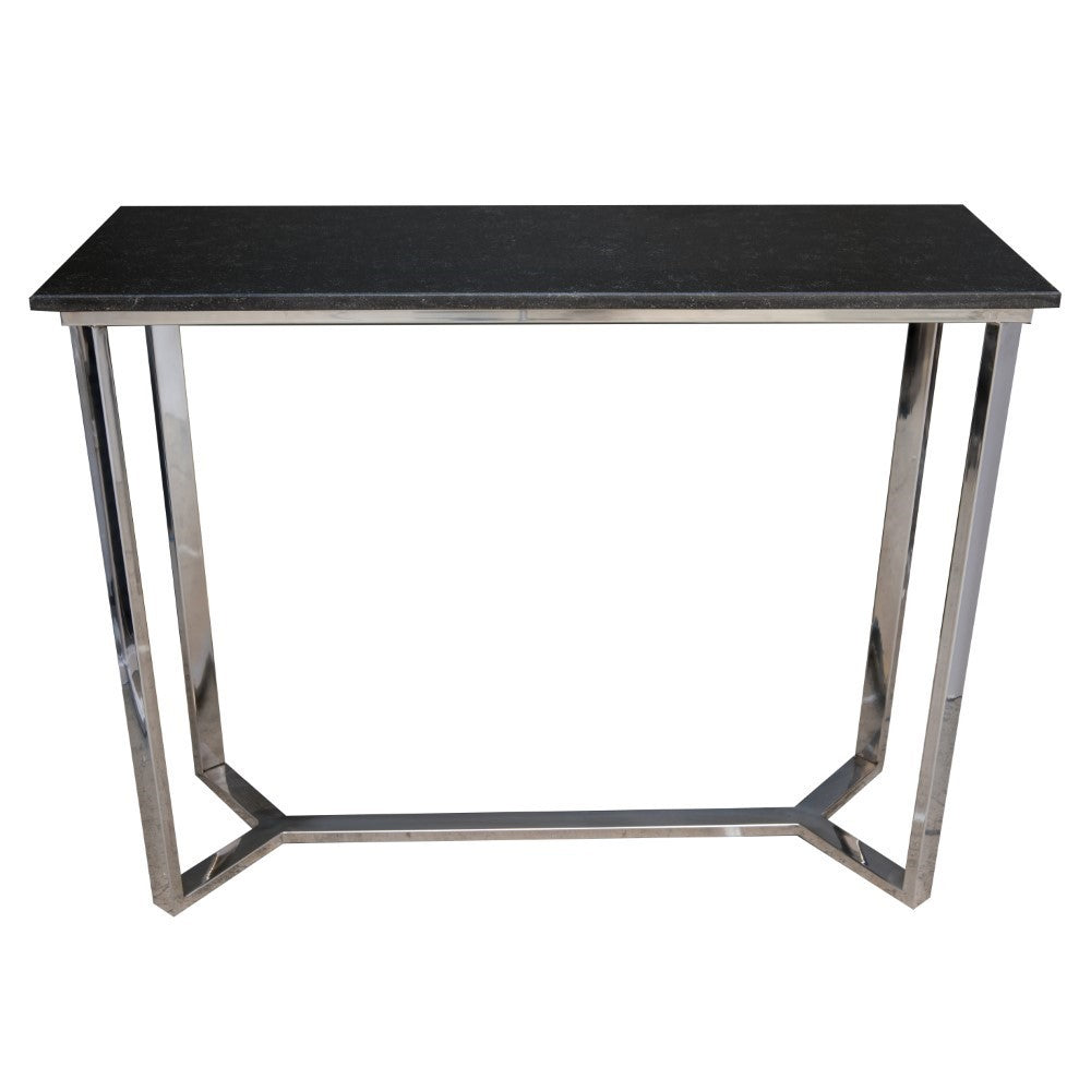 York Stainless Steel Console Table with Granite Top