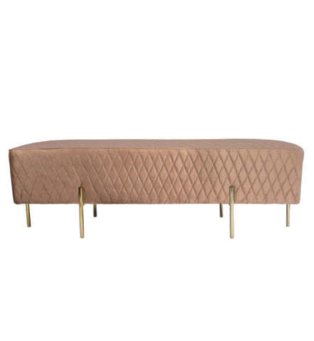 Coco Quilted Bench/Ottoman Burnt Orange