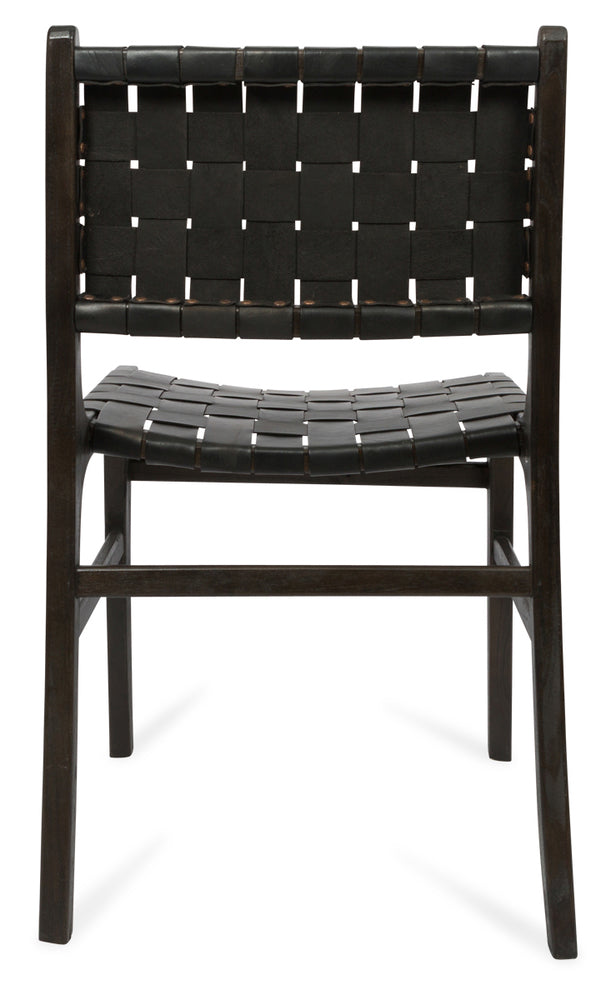 Numadu Leather Weave Dining Chair Black