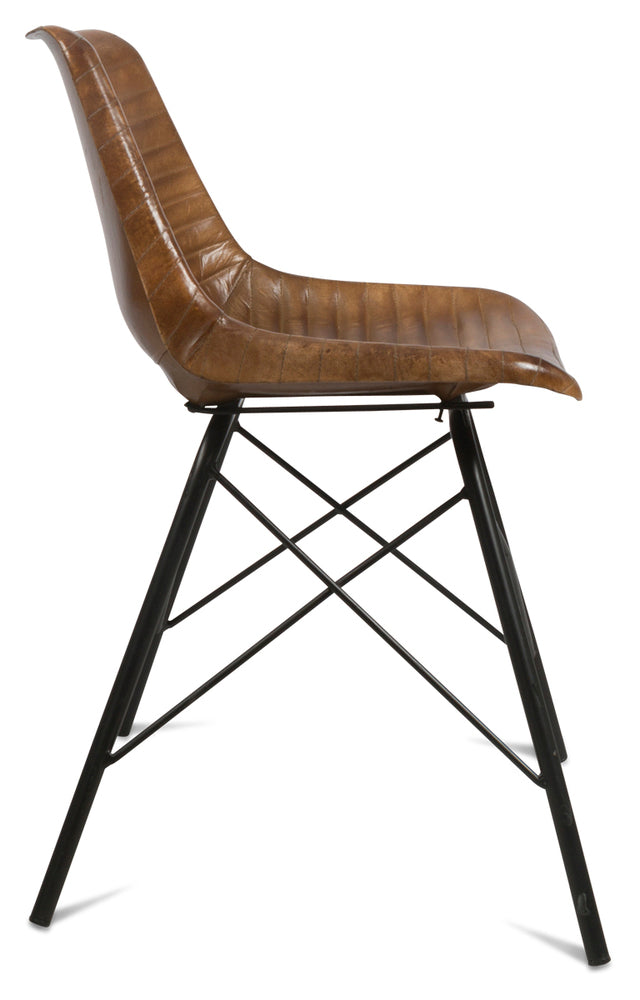 Capri Leather Dining Chair Tan
