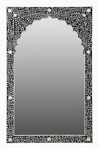 Nisha Mother of Pearl Inlay Floor Mirror