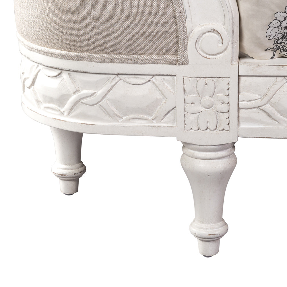 Josephine Bed Antique White Queen