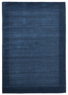 Cut and Loop Pile Rug Blue