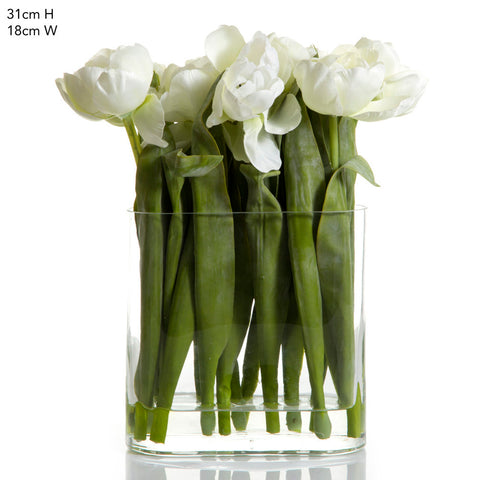 Tulips in Vase White