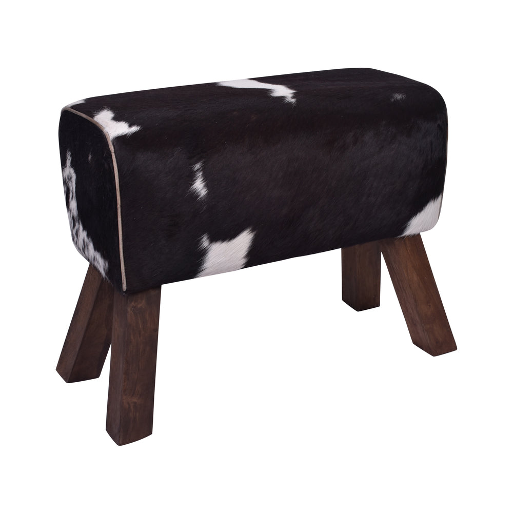 Correze Cowhide Bench Stool
