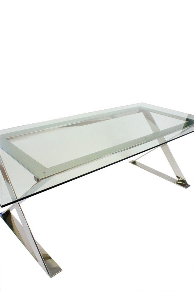 Lynne Dining Table Clear Glass