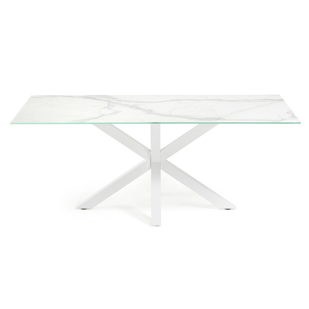 Masa Dining Table White Legs with Kalos White Ceramic Top