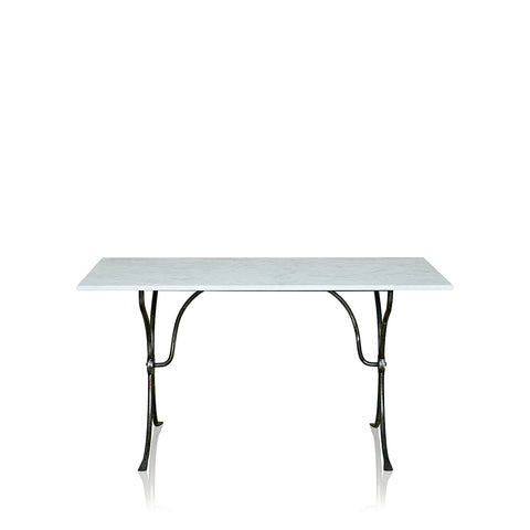 Villa Wrought Iron Dining Table With Marble Top