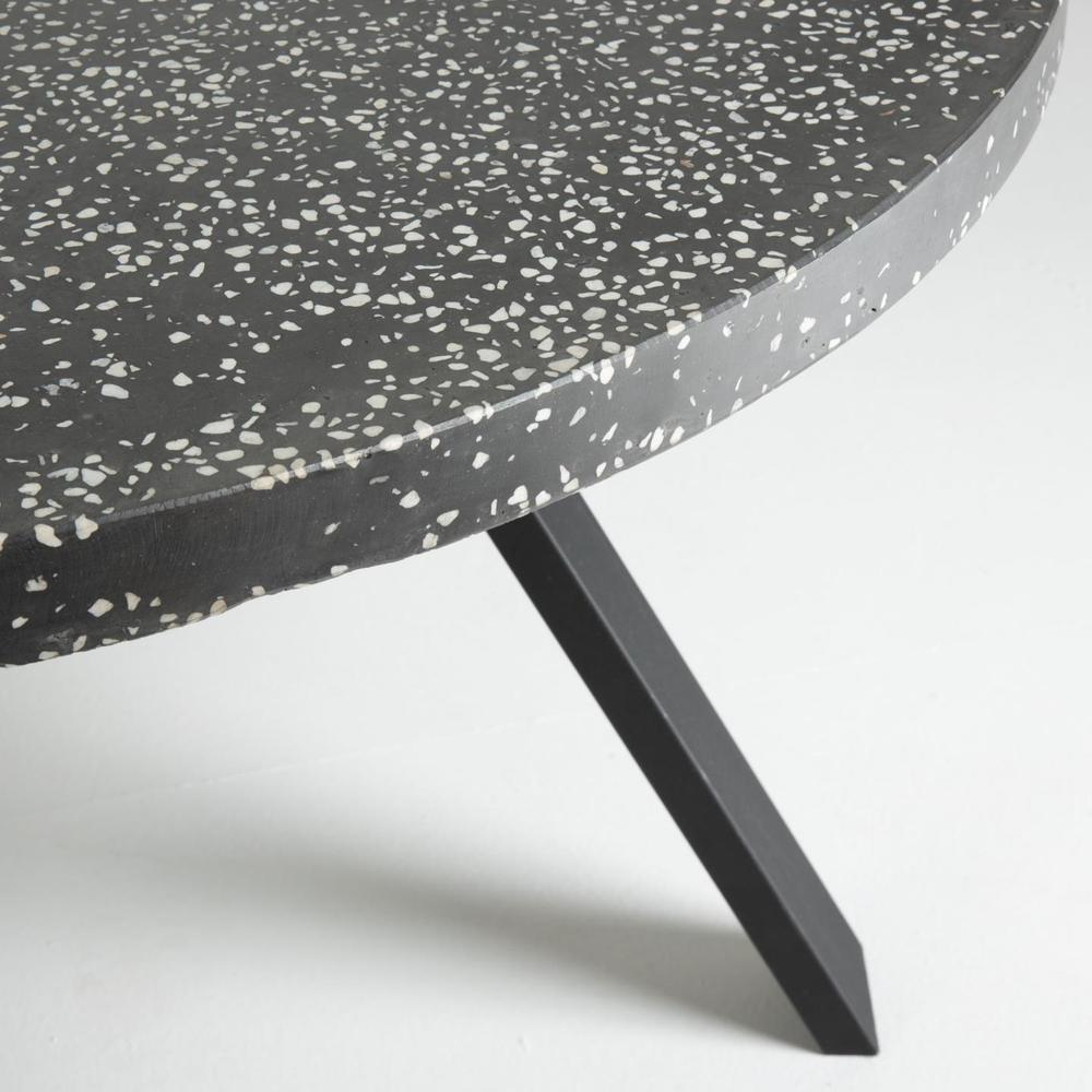 Dahlia Dining Table Terrazzo Black