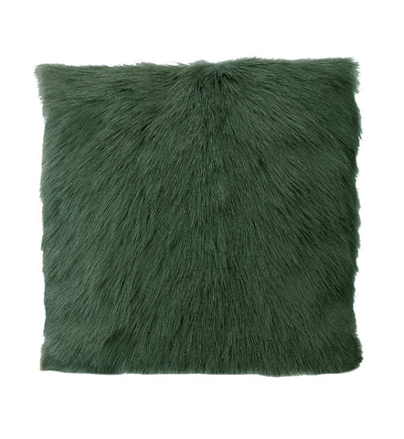Goat Fur Cushion Vintage Green