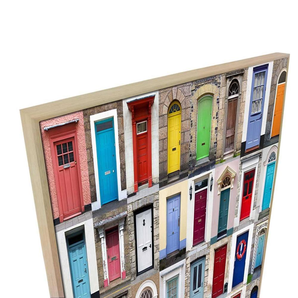 Door Story Canvas Print with Floating Frame